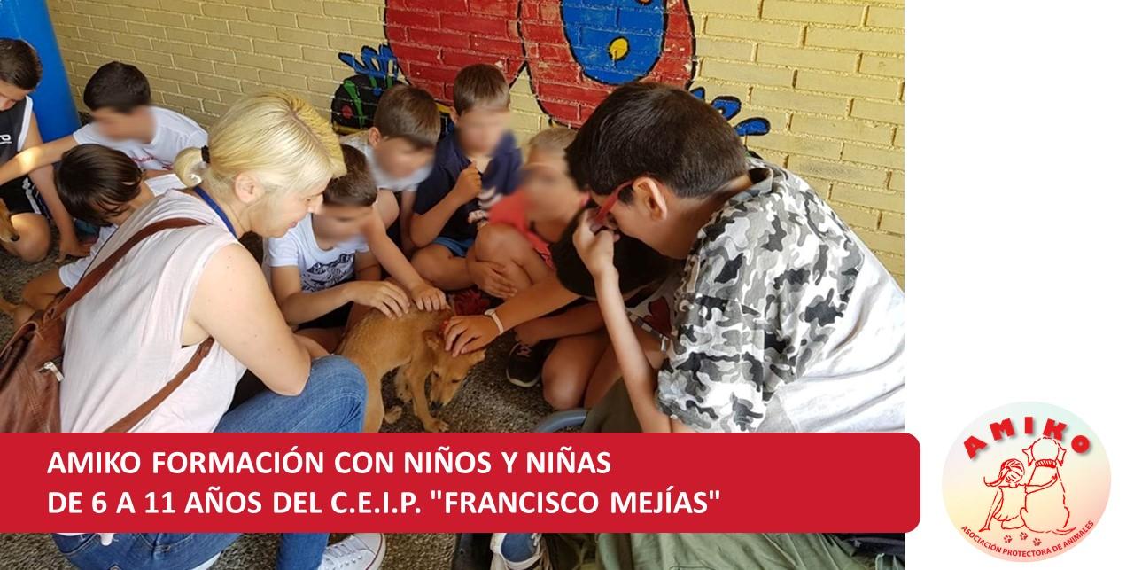 """AMIKO divulga su labor a niños y niñas solidarios de 6 a 11 años del C.E.I.P. """"Francisco Mejías"""""""
