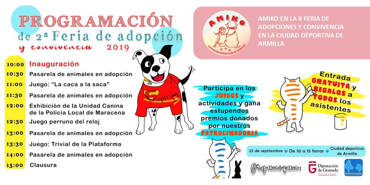 AMIKO EN LA II FERIA DE ADOPCIONES Y CONVIVENCIA EN LA CIUDAD DEPORTIVA DE ARMILLA